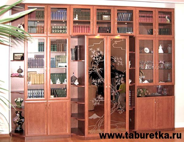 Книжный шкаф - библиотека.
