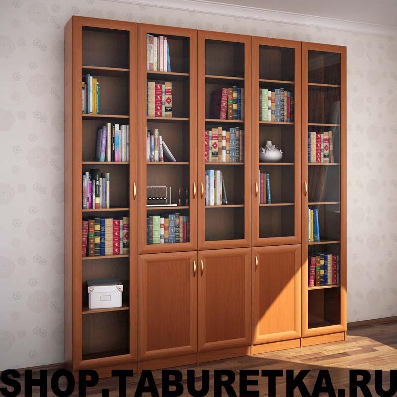 Книжная библиотека, 5 секций
