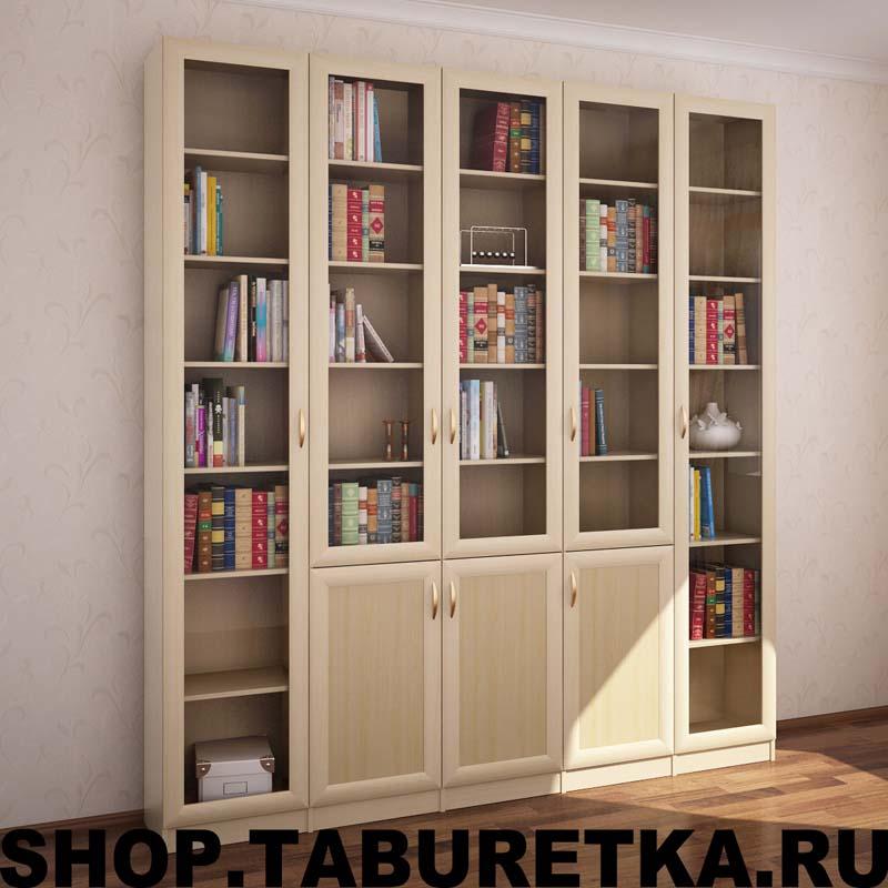 Библиотека для книг, 5 секций