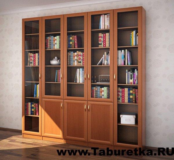 Стандартные (секционные, или модульные) книжные шкафы (библиотеки