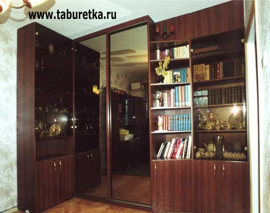 шкаф купе для одежды и распашные шкафы для книг и посуды нр 019