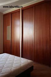Встроенные гардеробные шкафы в спальне