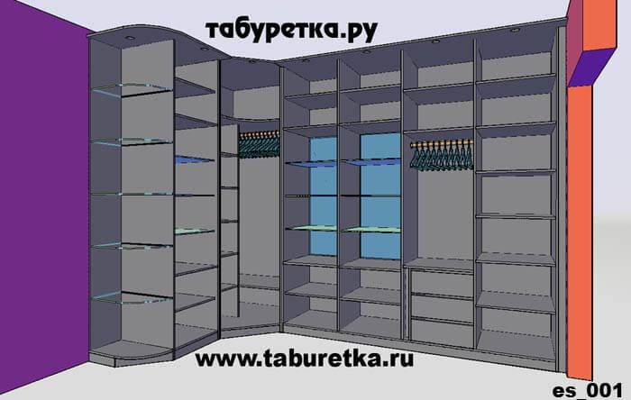 Угловой шкаф - стенка с рамочными фасадами. эскизы, чертежи,.