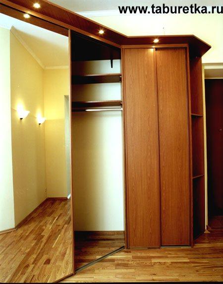 Кухни, шкафы купе на заказ: встроенный угловой шкаф купе в м.