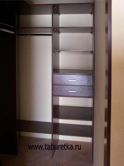 Гардеробная вид со снятыми дверьми